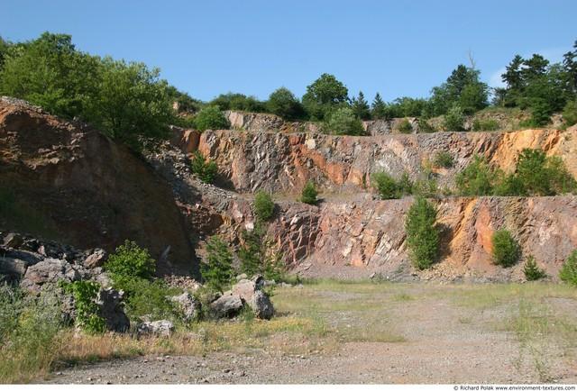 Various Walls Stones Cliffs Overgrown Rock