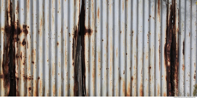 Rusted Corrugated Plates Metal