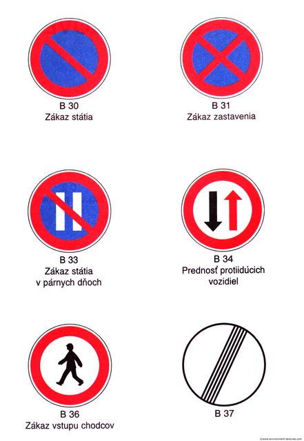 Prohibition Traffic Signs