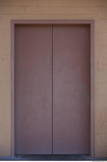 Door Elevator Doors. Double Metal Doors