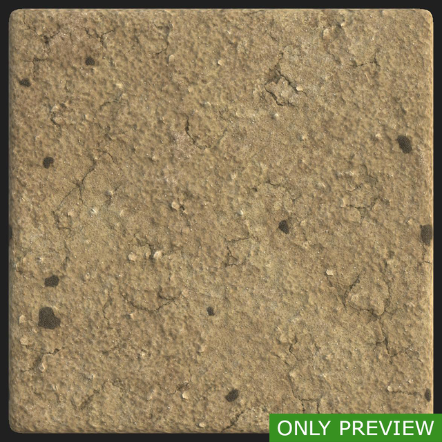 PBR substance material of ground sandy soil created in substance designer for graphic designers and game developers