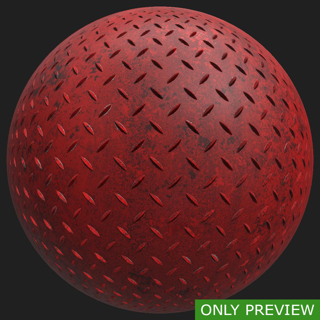 PBR substance material of metal floor painted dirty created in substance designer for graphic designers and game developers