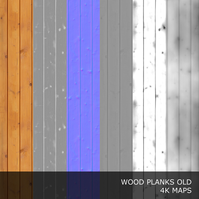PBR Texture of Wood Planks Old