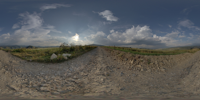 Panorama HDR background nature