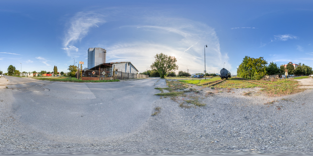 Panorama HDR background industrial street