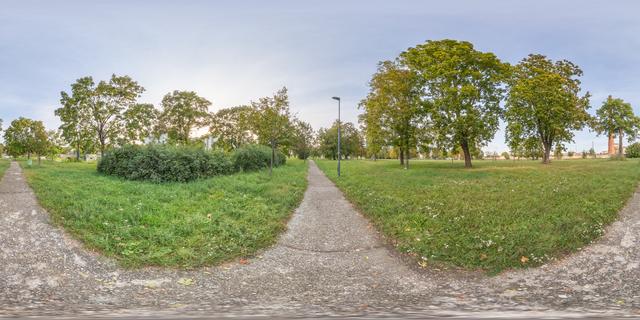 panorama  HDRi background park