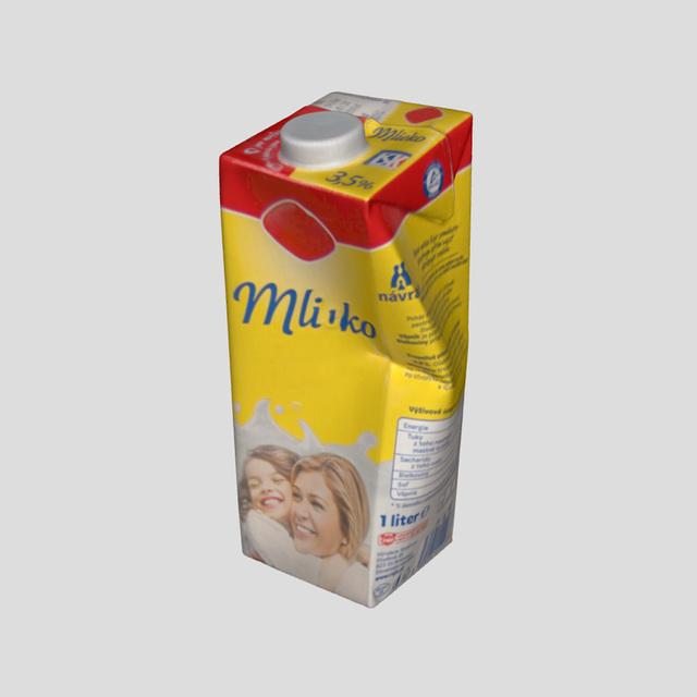 3D scan bottle milk