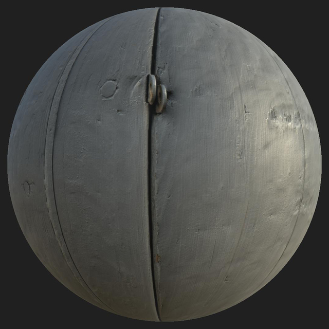 PBR texture of wood painted