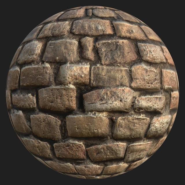 PBR texture wall bricks old