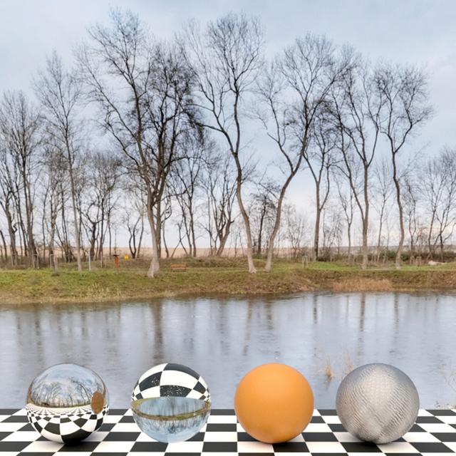 HDR panorama lake