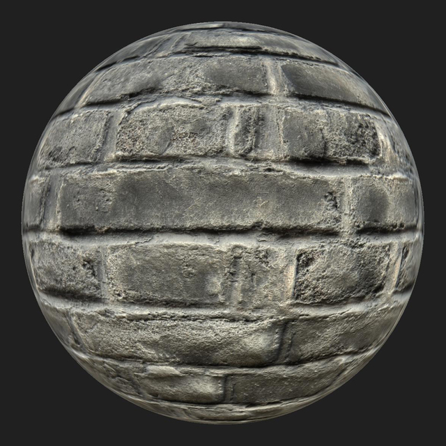 PBR texture wall bricks