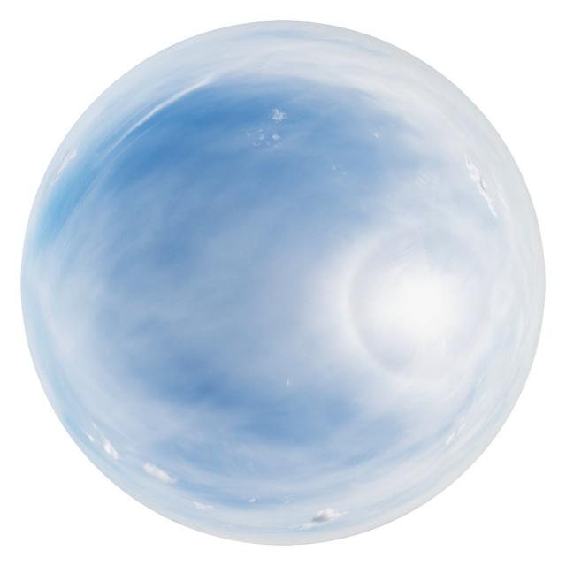 blue clouded skydome HDRi panorama K