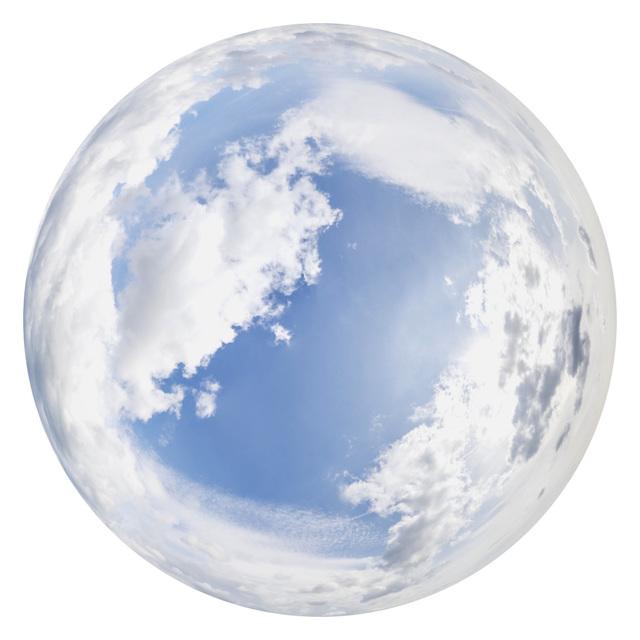 blue clouded skydome HDRi panorama