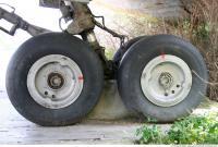 Photo Texture of Wheels Aeroplane