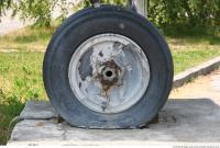 Photo Texture of Wheel Aeroplane