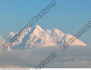 Photo Texture of Background Snowy Mountains
