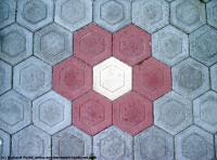 Photo Texture of Hexagonal Tiles