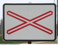 Photo Texture of Caution Traffic Sign