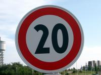 Photo Texture of Speed Limit Traffic Sign
