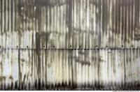 Photo Texture of Metal Corrugated Plate Dirty