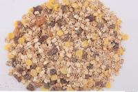 Photo Texture of Oatmeal with Dried Fruit 0001