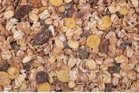 Photo Texture of Oatmeal with Dried Fruit 0002