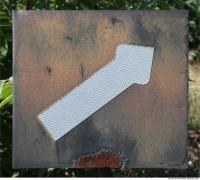 Photo Texture of Directional Traffic Sign