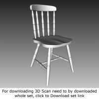 3D Scan of Chair Wooden