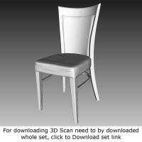 free 3D scan of chair wooden