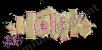 photo texture of graffiti decal 0003