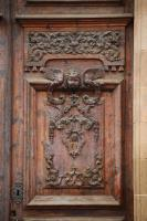 free photo texture of door ornate