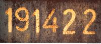 free photo texture of sign numbers