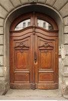 door double wooden ornate 0007