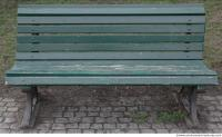 bench wooden green 0001