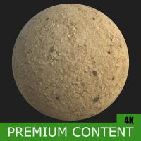 PBR Substance Material of Ground Sandy Soil