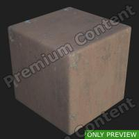 PBR substance preview metal floor rusty 0001