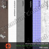 PBR substance texture floor metal rusty #4