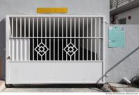 door metal gate white