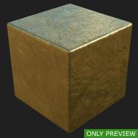 PBR substance preview gold 0001
