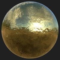 PBR Substance Material of Gold #3