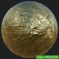 PBR substance preview gold 0002