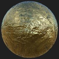 PBR Substance Material of Gold #4