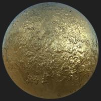 PBR Substance Material of Gold #5