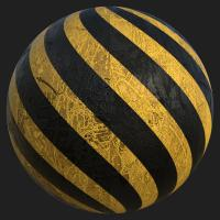 PBR Substance Material of Concrete Stripes Painted