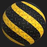 PBR Substance Material of Metal Floor Stripes Painted #2
