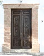 wooden double doors ornate 0002