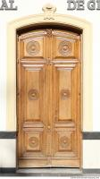 wooden double doors ornate 0005