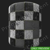 PBR marble floor damaged texture 0003