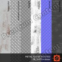 PBR metal floor rusted texture DOWNLOAD