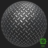 PBR Substance Material of Metal Floor Industrial